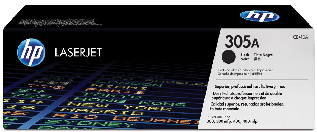 HP toner 305A, 2 200 pagina's, OEM CE410A, zwart