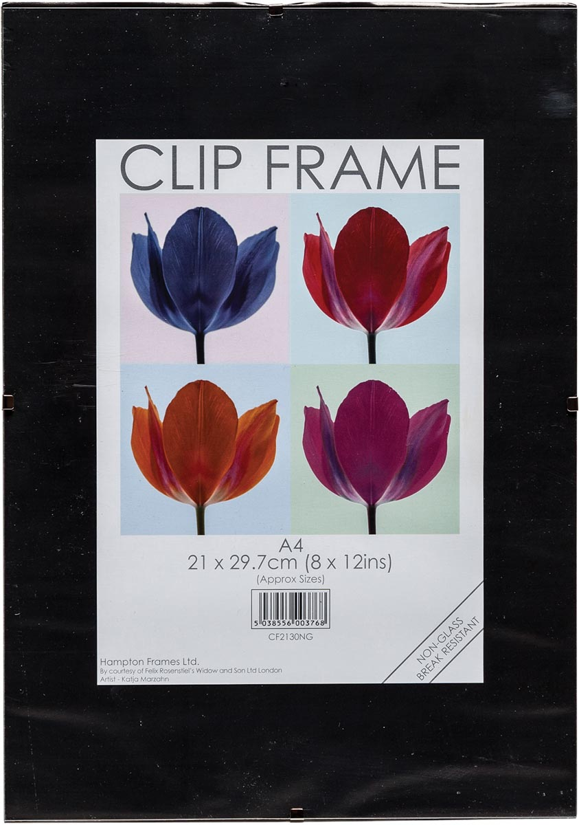 TPAC fotokader met clips, ft A4