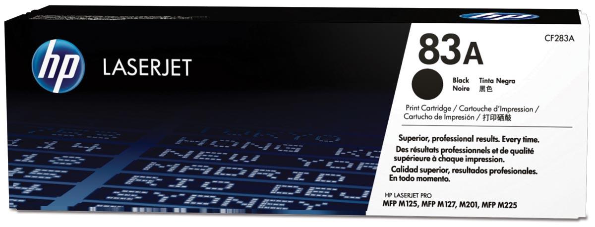 HP toner 83A, 1 500 paginas, OEM CF283A, zwart