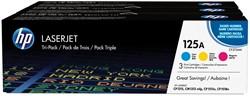 HP Tonercartridge MultiPack C,M,Y 125A - 1400 pagina's - CF373AM