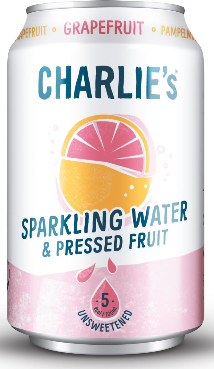 Charlie's vruchtenlimonade Grapefruit, blikje van 330 ml , pak van 12 stuks