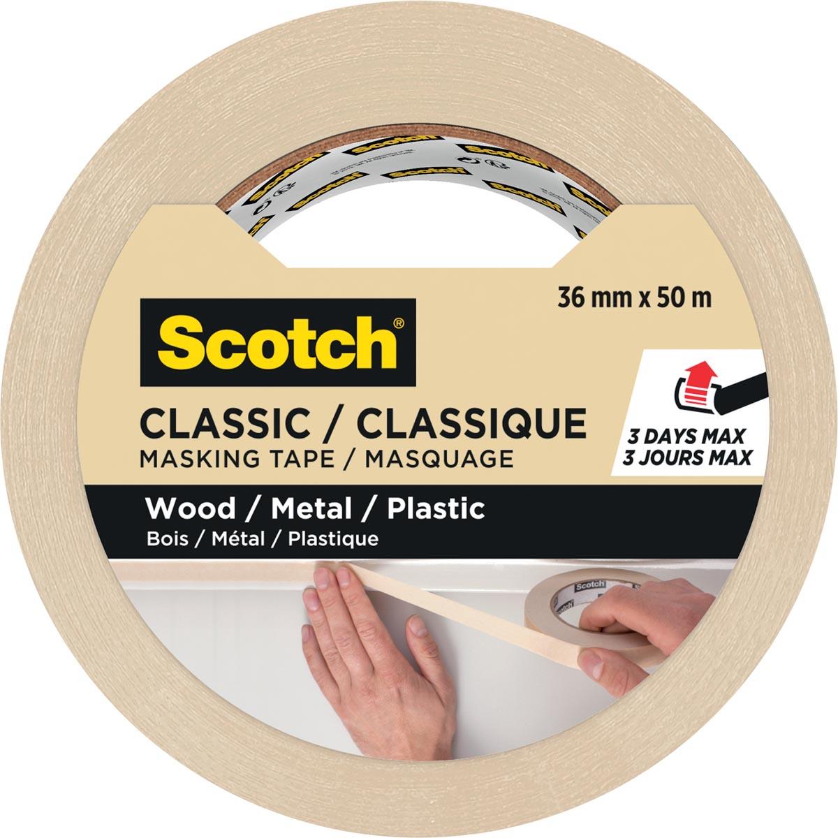Scotch classic afplaktape, ft 36 mm x 50 m