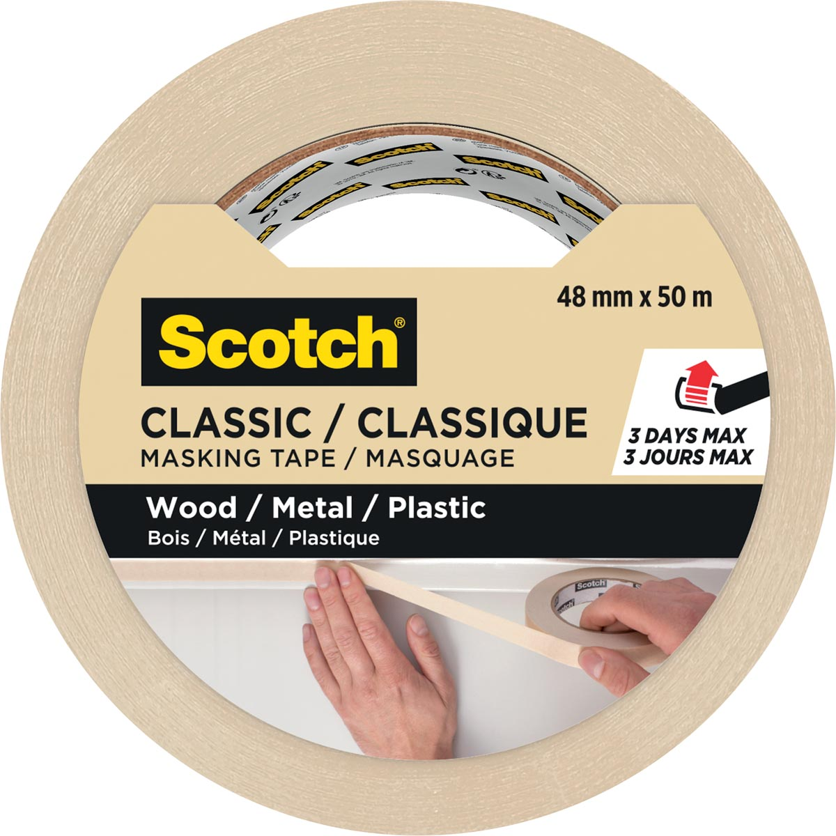 Scotch classic afplaktape, ft 48 mm x 50 m