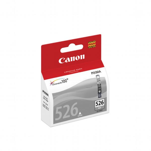 Canon inktcartridge CLI-526GY, 437 pagina's, OEM 4544B001, grijs