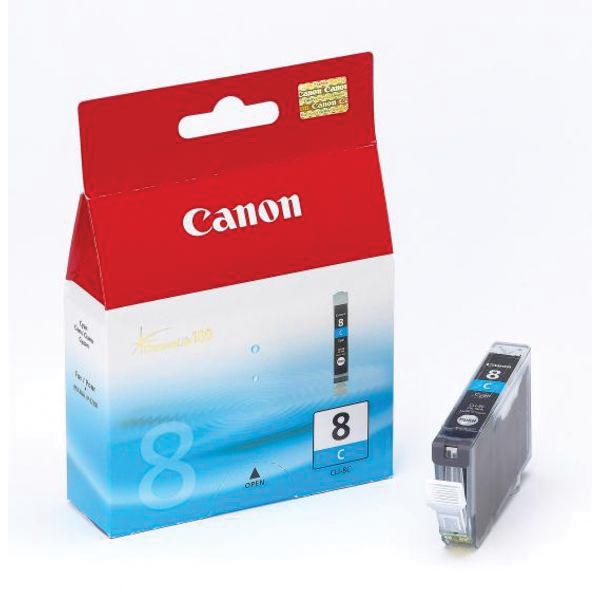 Canon inktcartridge CLI-8C, 420 pagina's, OEM 0621B001, cyaan