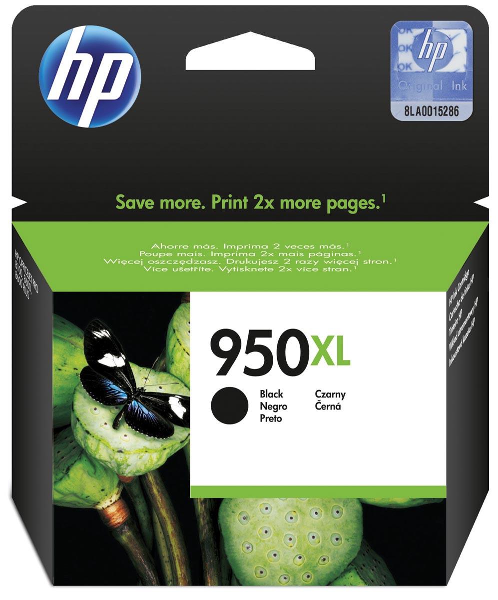 HP inktcartridge 950XL, 2 300 paginas, OEM CN045AE#301, zwart, met beveiligingssysteem