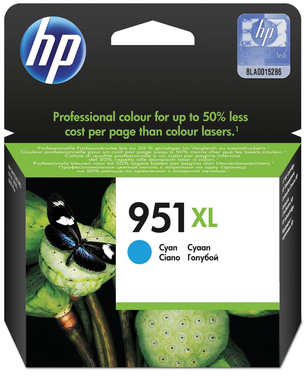 HP inktcartridge 951XL, 1 500 paginas, OEM CN046AE, cyaan