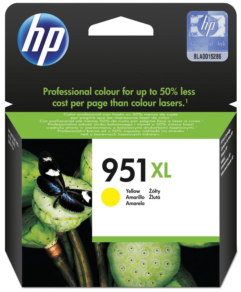 HP inktcartridge 951XL, 1 500 paginas, OEM CN048AE, geel