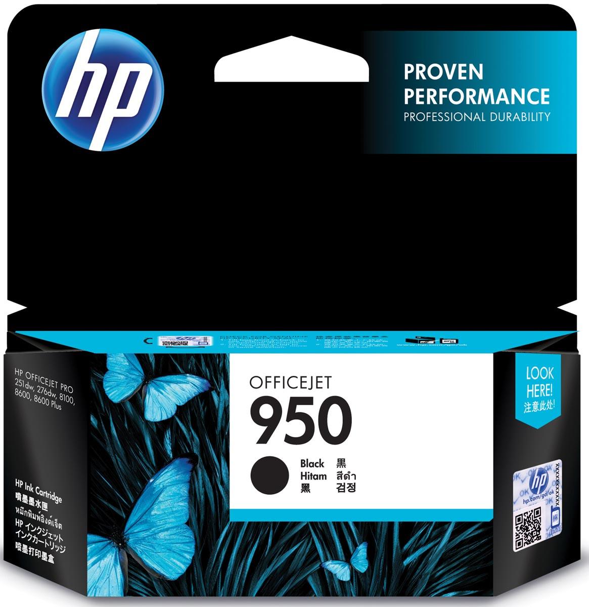 HP inktcartridge 950, 1 000 paginas, OEM CN049AE, zwart