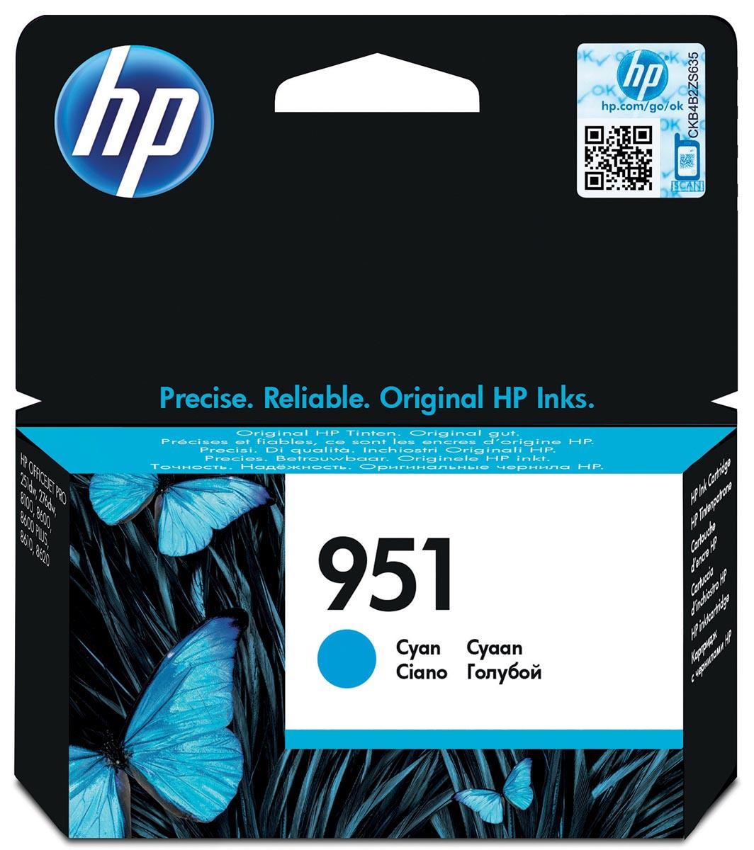 HP inktcartridge 951, 700 paginas, OEM CN050AE, cyaan