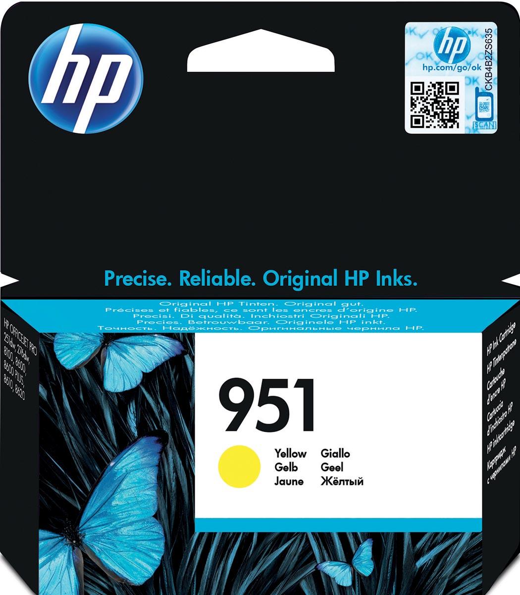 HP inktcartridge 951, 700 pagina's, OEM CN052AE, geel
