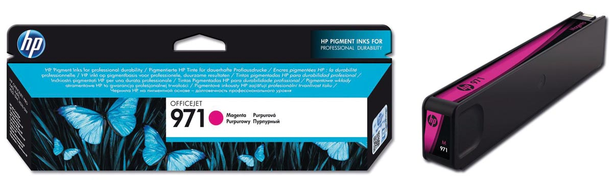 HP inktcartridge 971, 2 500 paginas, OEM CN623AE, magenta