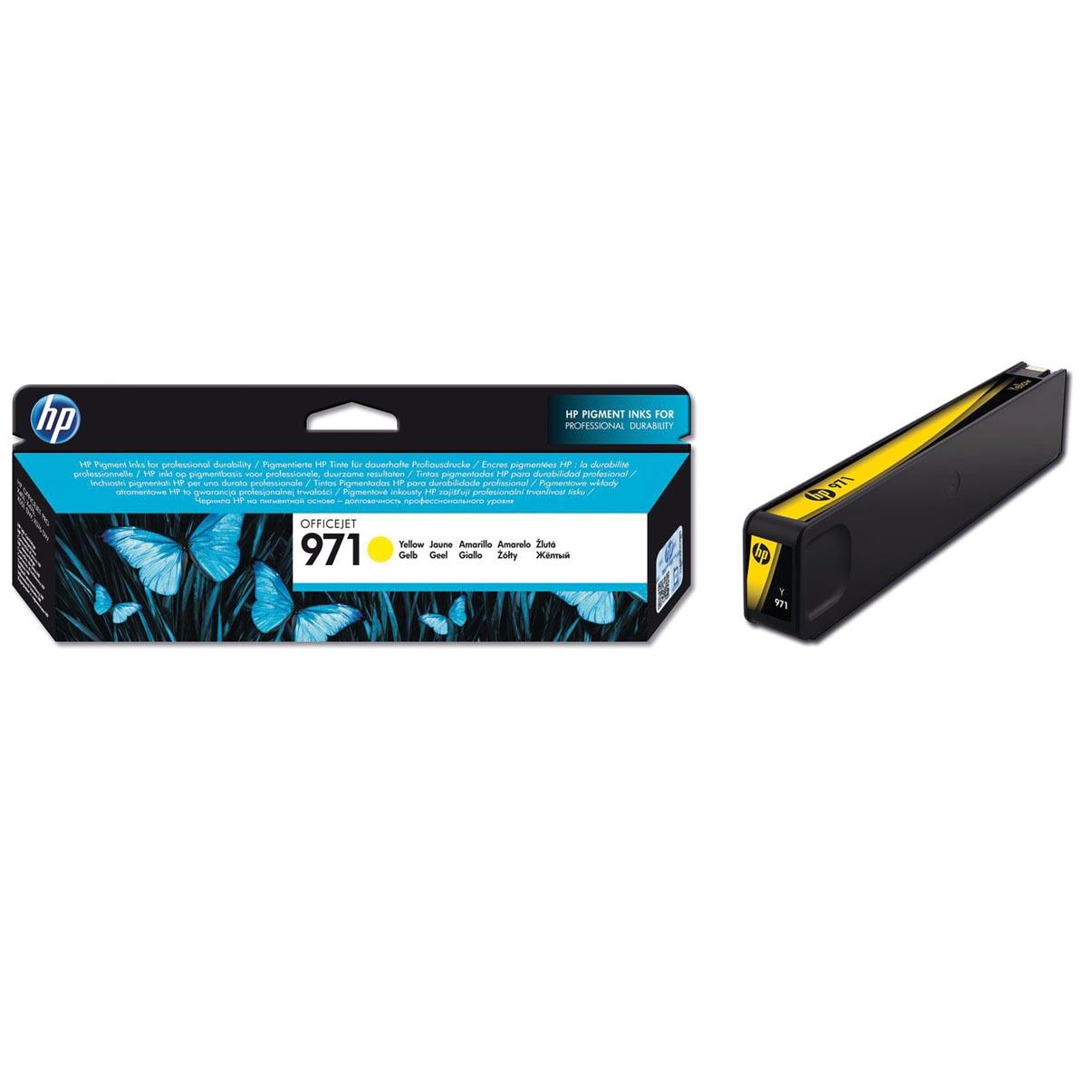 HP inktcartridge 971, 2 500 paginas, OEM CN624AE, geel