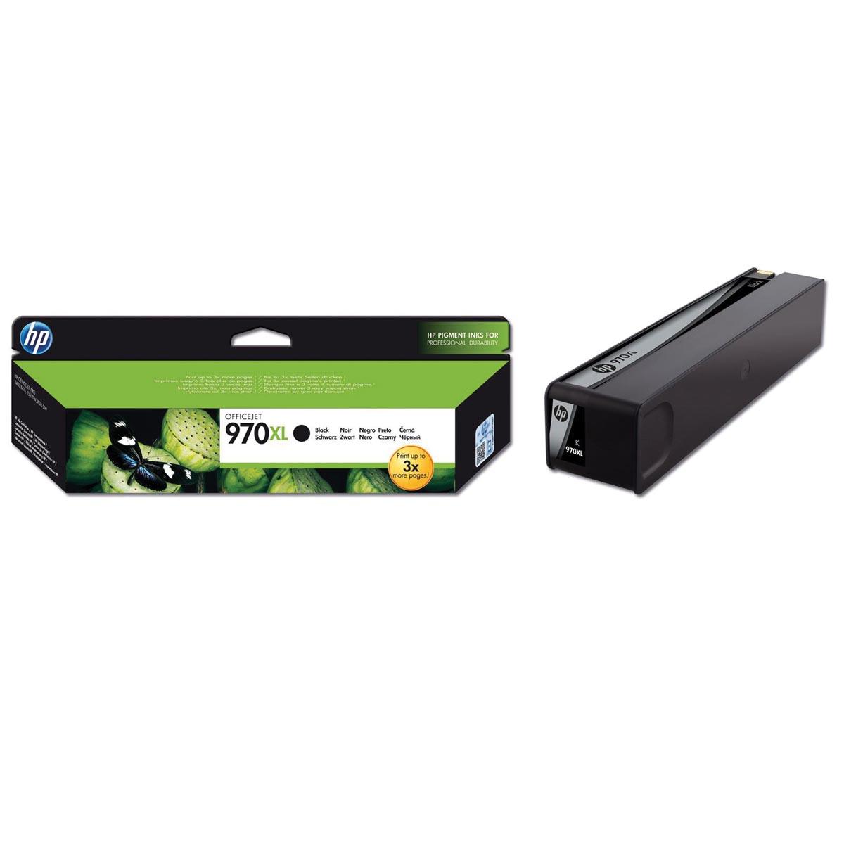 HP inktcartridge 970XL, 9 200 paginas, OEM CN625AE, zwart