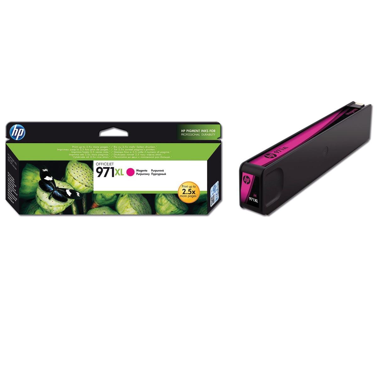 HP inktcartridge 971XL, 6 600 paginas, OEM CN627AE, magenta