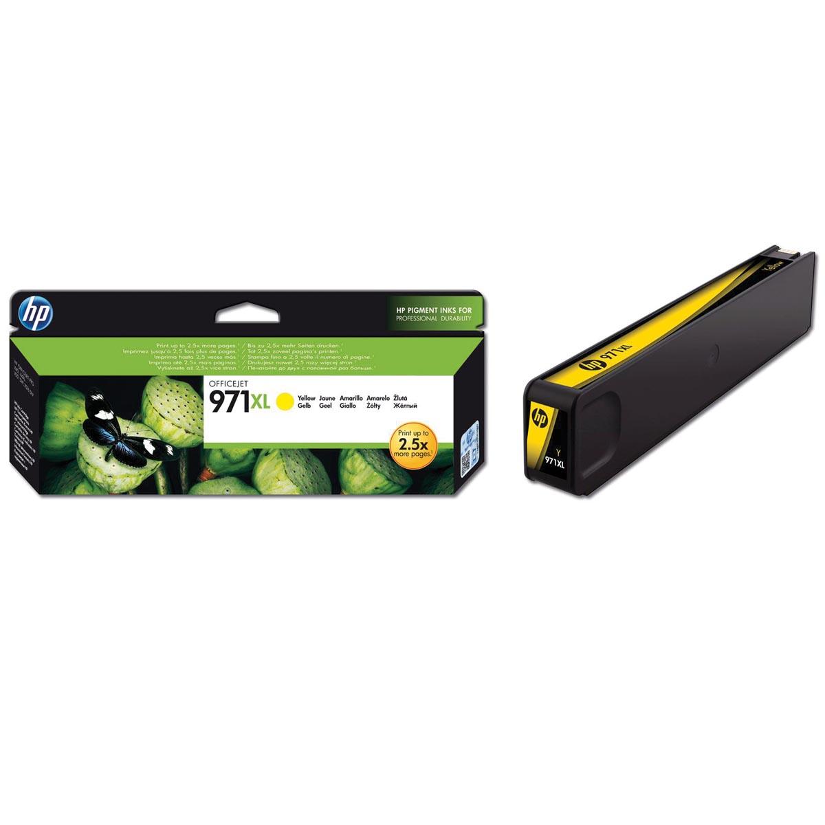 HP inktcartridge 971XL, 6 600 paginas, OEM CN628AE, geel