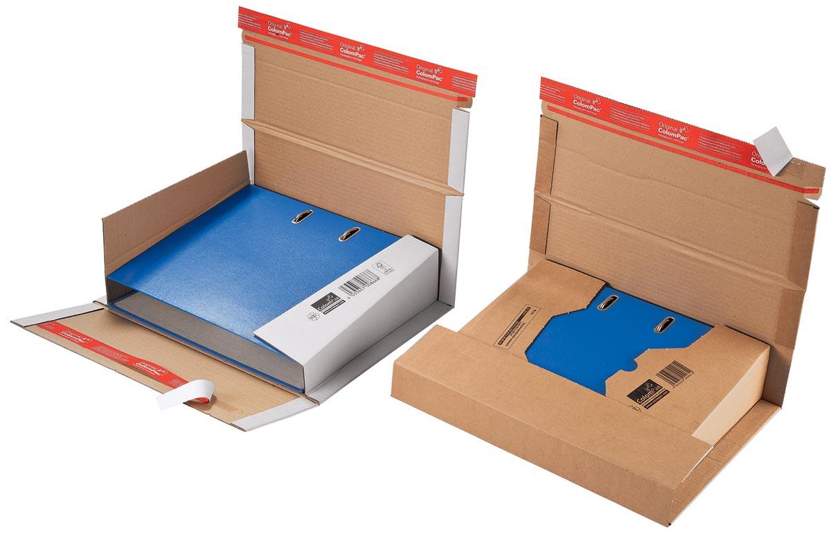 Colompac verzenddoos voor ordners CP055, ft 32 x 29 x 3,5-8 cm, bruin