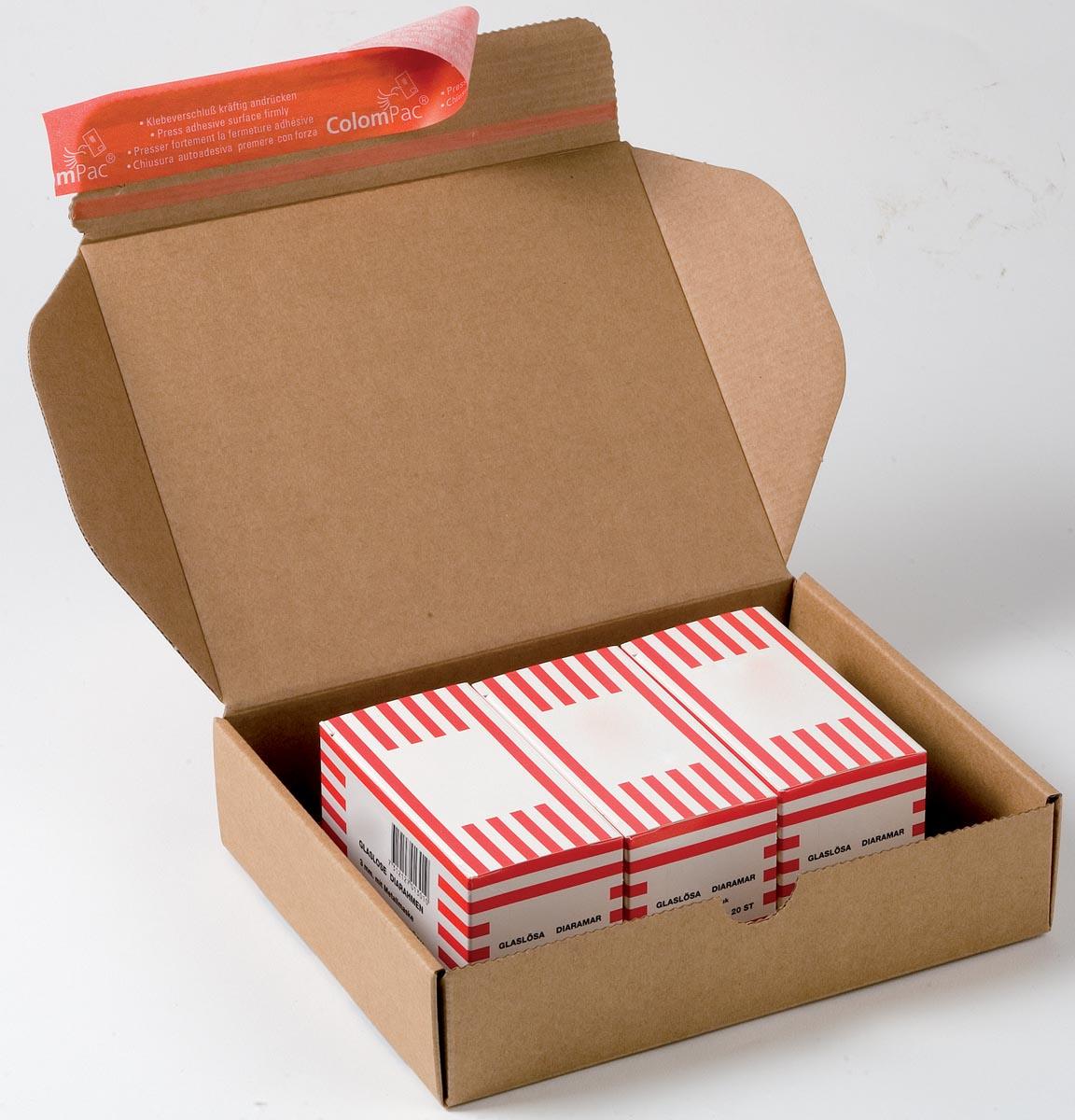 Colompac verzenddoos Modulbox, binnenformaat 192 x 155 x 43 mm, bruin