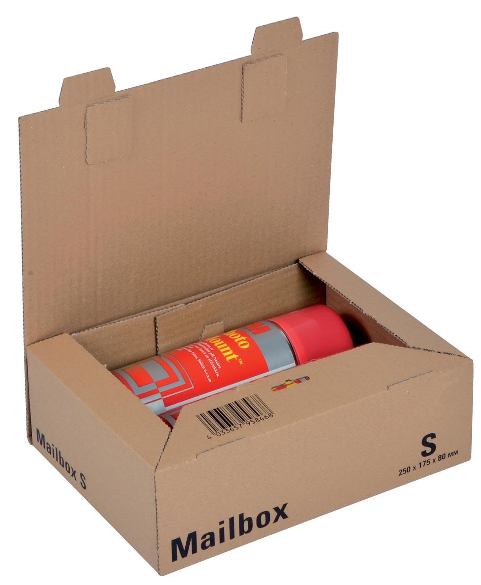Office Depot Verzenddozen Mail-Box Small Bruin 190 x 259 x 85 mm Stuks