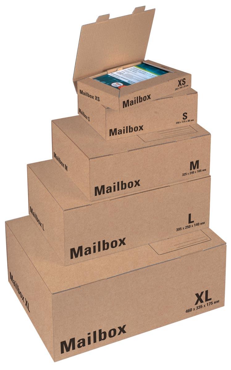 Office Depot Verzenddozen Mail-Box XS Bruin 158 x 250 x 39 mm Stuks