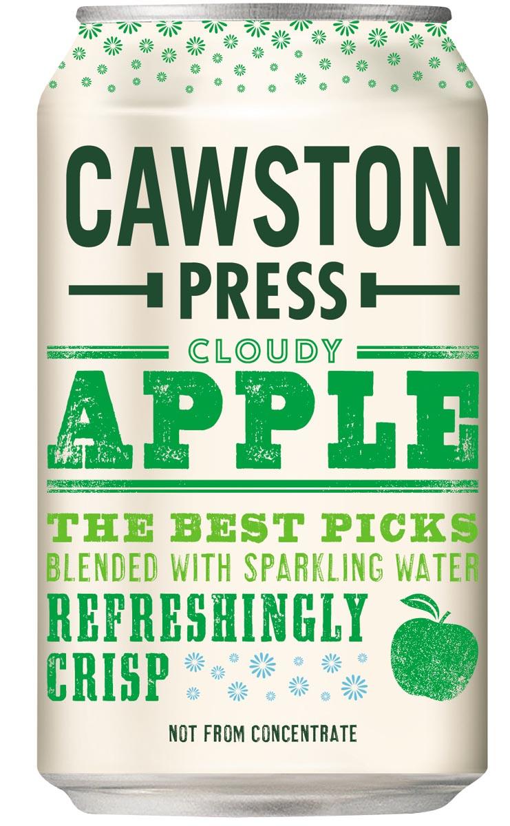 Cawston Press frisdrank Cloudy Apple blikje van 33 cl, pak van 6 x 4