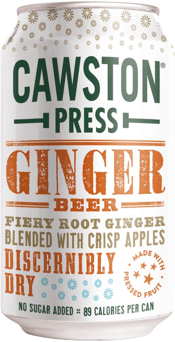 Cawston Press frisdrank Ginger, blikje van 33 cl, pak van 24