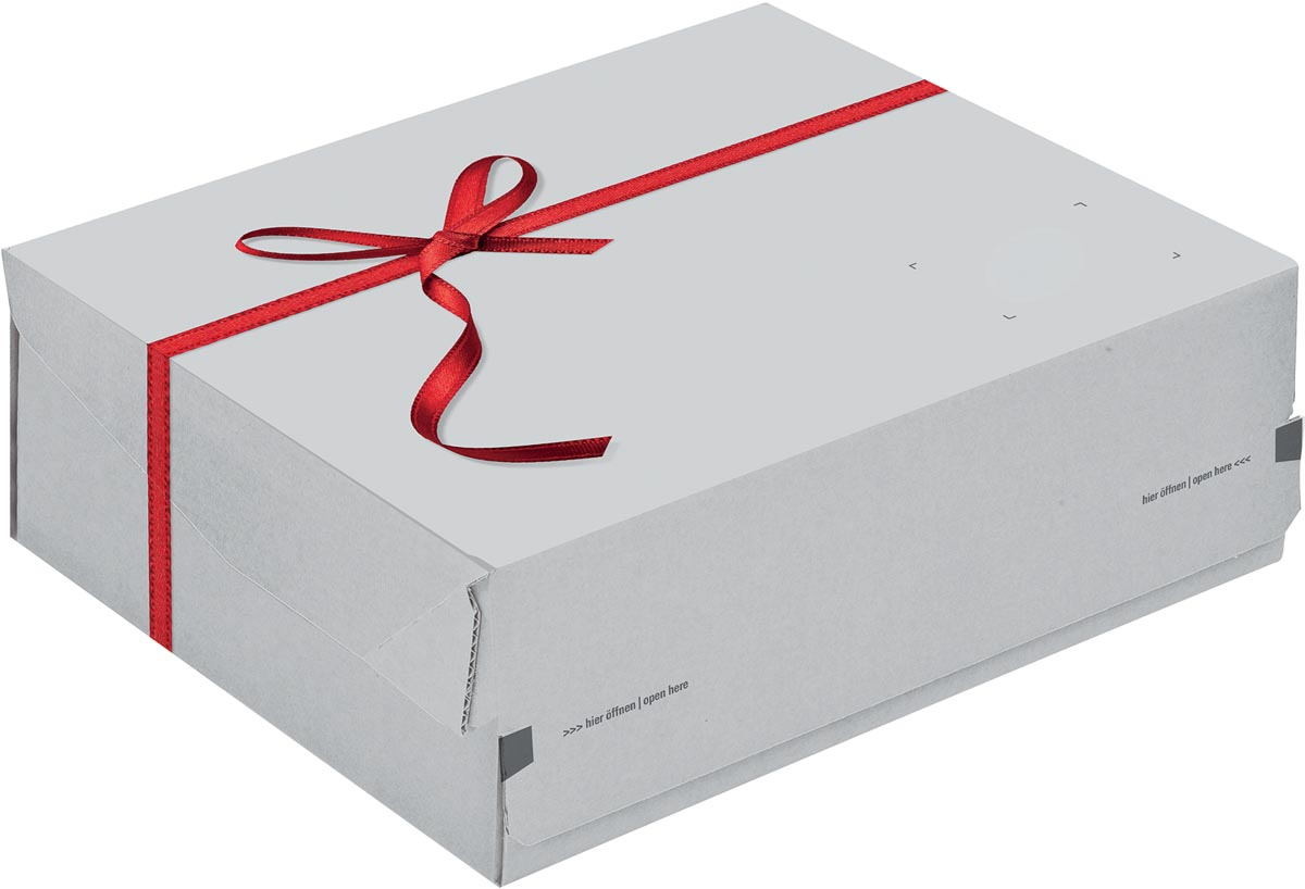 Colompac verzenddoos giftbox CP068, ft 24,1 x 16,6 x 9,4 cm, wit