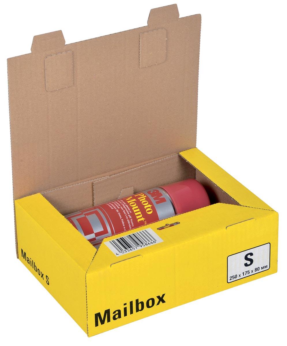 Colompac Mailbox Small, kan tot 5 formaten aannemen, geel