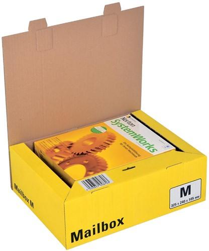 Colompac Mailbox Medium, kan tot 5 formaten aannemen, geel