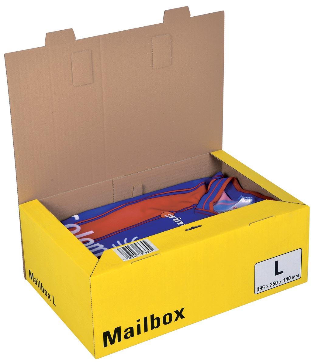 Colompac Mailbox Large, kan tot 5 formaten aannemen, geel