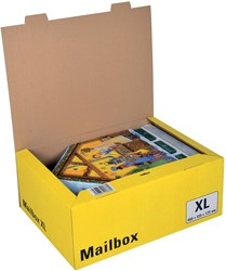 Colompac Mailbox Extra Large, kan tot 5 formaten aannemen, geel