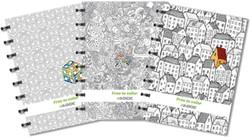 Adoc Free To Color schrift, ft A5, gelijnd, 144 bladzijden