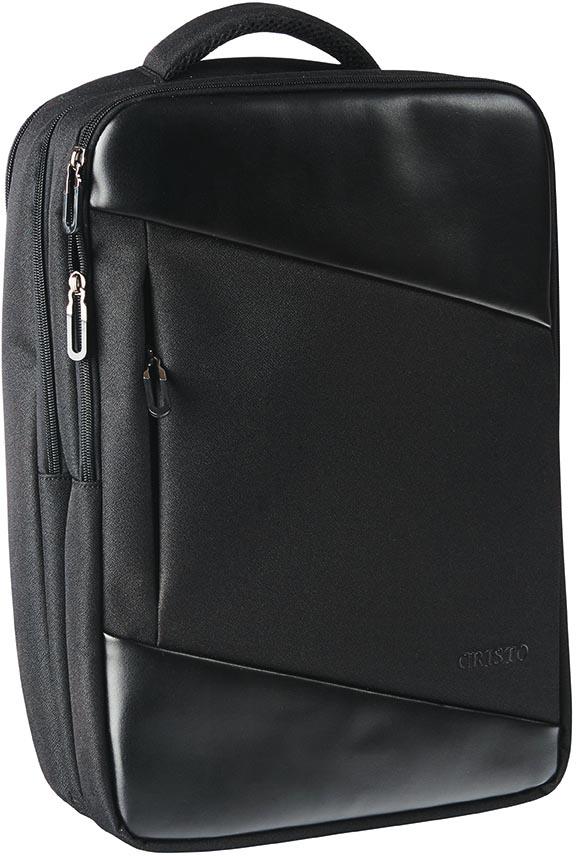 Cristo Portable laptoprugzak voor 15,6 inch laptops, met usb poort, zwart