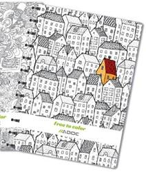 Adoc Free To Color schrift, ft A4, commercieel geruit, 144 bladzijden