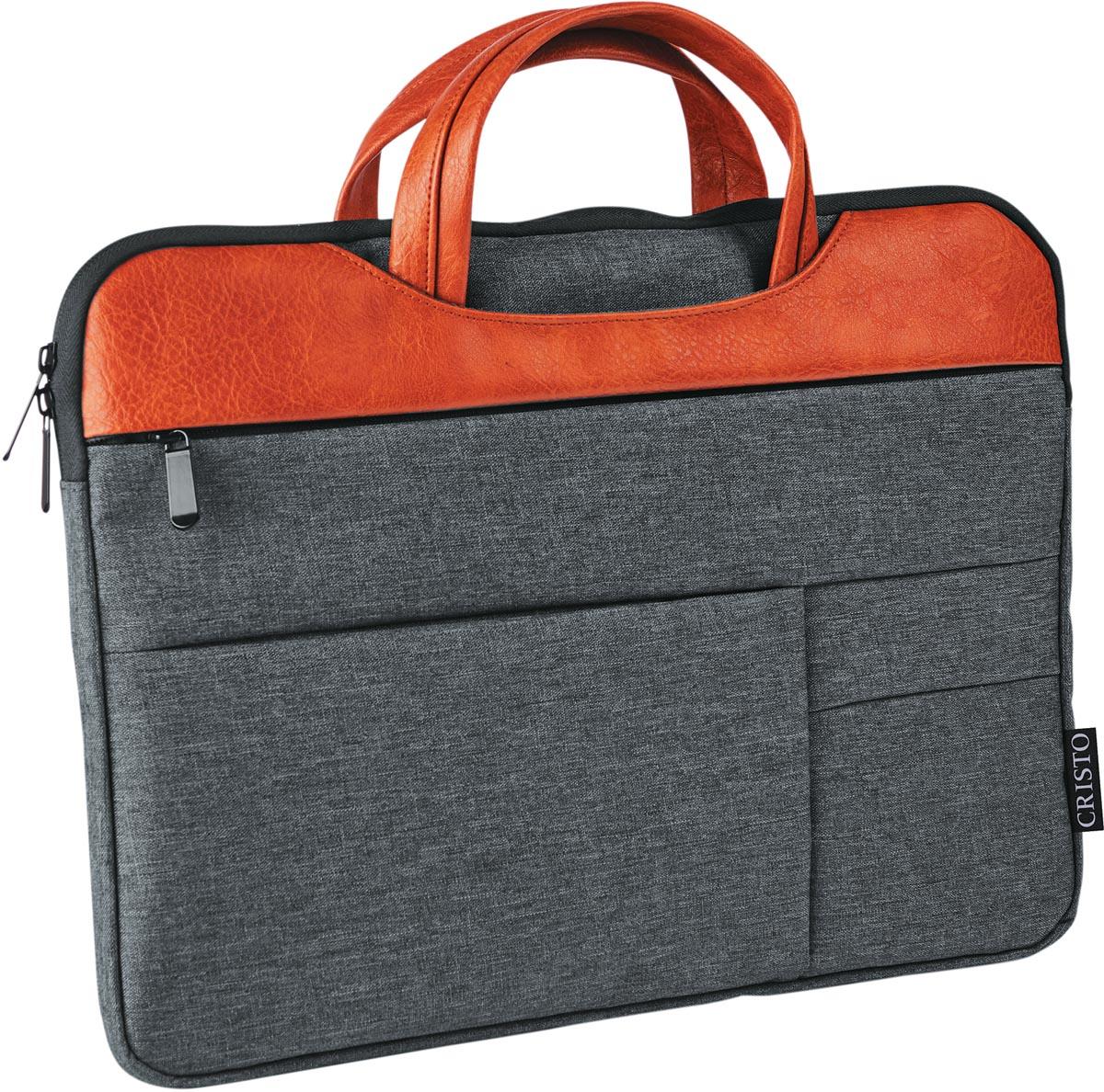 Cristo Urban sleeve voor 15,6 inch laptops, grijs