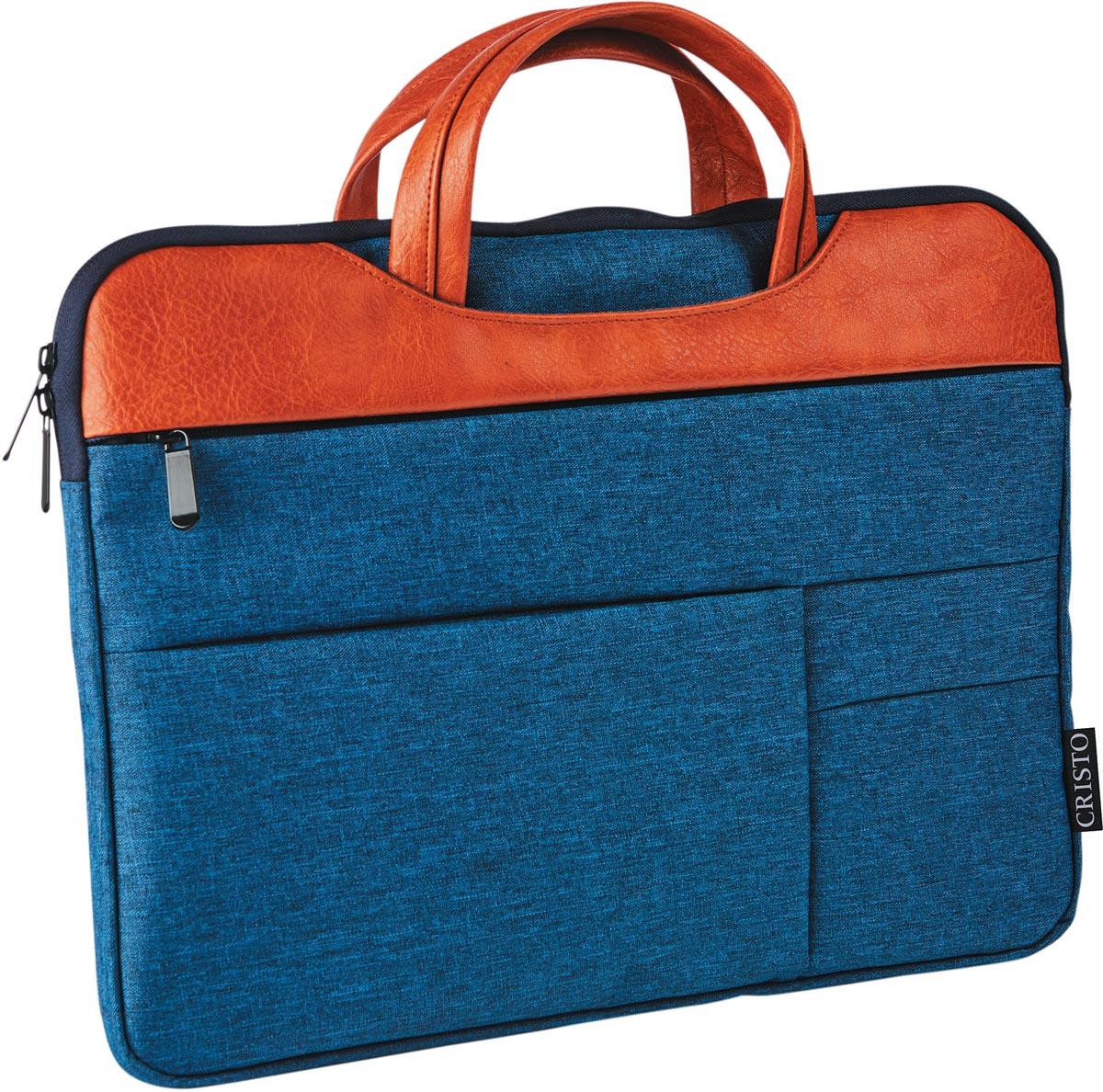 Cristo Urban sleeve voor 15,6 inch laptops, blauw