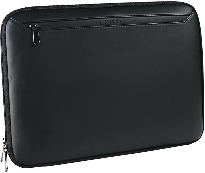 Cristo Business sleeve voor 15,6 inch laptops, zwart