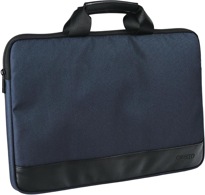 Cristo Recycled sleeve voor 15,6 inch laptops, blauw
