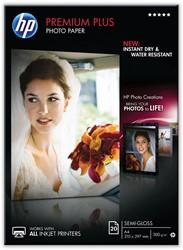 HP fotopapier Premium Plus ft A4, 300 g, pak van 20 vel, semi-glanzend