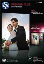 HP Premium Plus fotopapier ft 10 x 15 cm, 300 g, pak van 25 vel, glanzend