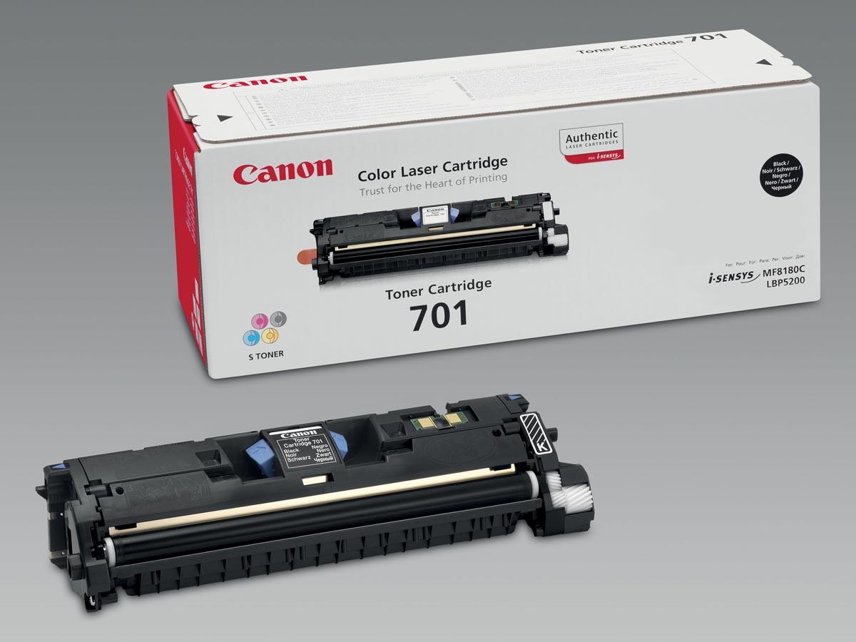Canon toner 701BK, 5.000 pagina's, OEM 9287A003, zwart