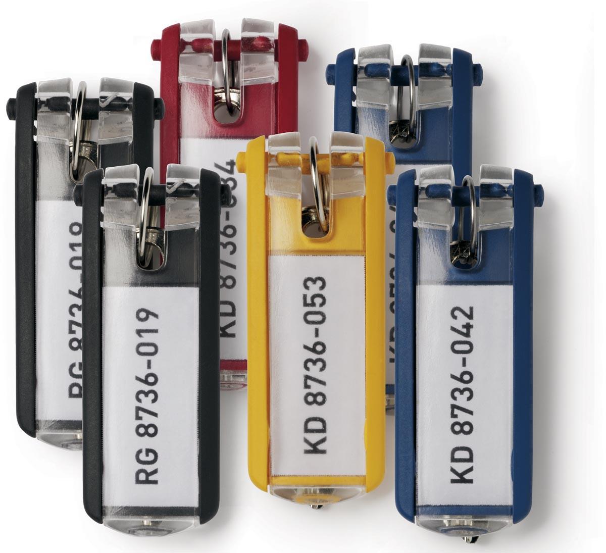 Durable sleutelhanger Key Clip, assortiment, pak van 6 stuks