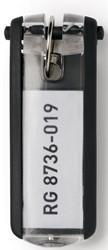 Durable sleutelhanger Key Clip, zwart, pak van 6 stuks
