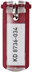 Durable sleutelhanger Key Clip, rood, pak van 6 stuks