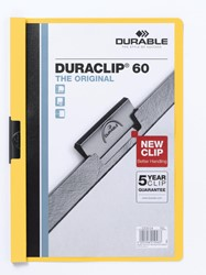 Durable Klemmap Duraclip Original 60 geel
