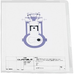 Durable L-map A4, transparant, 10 stuks