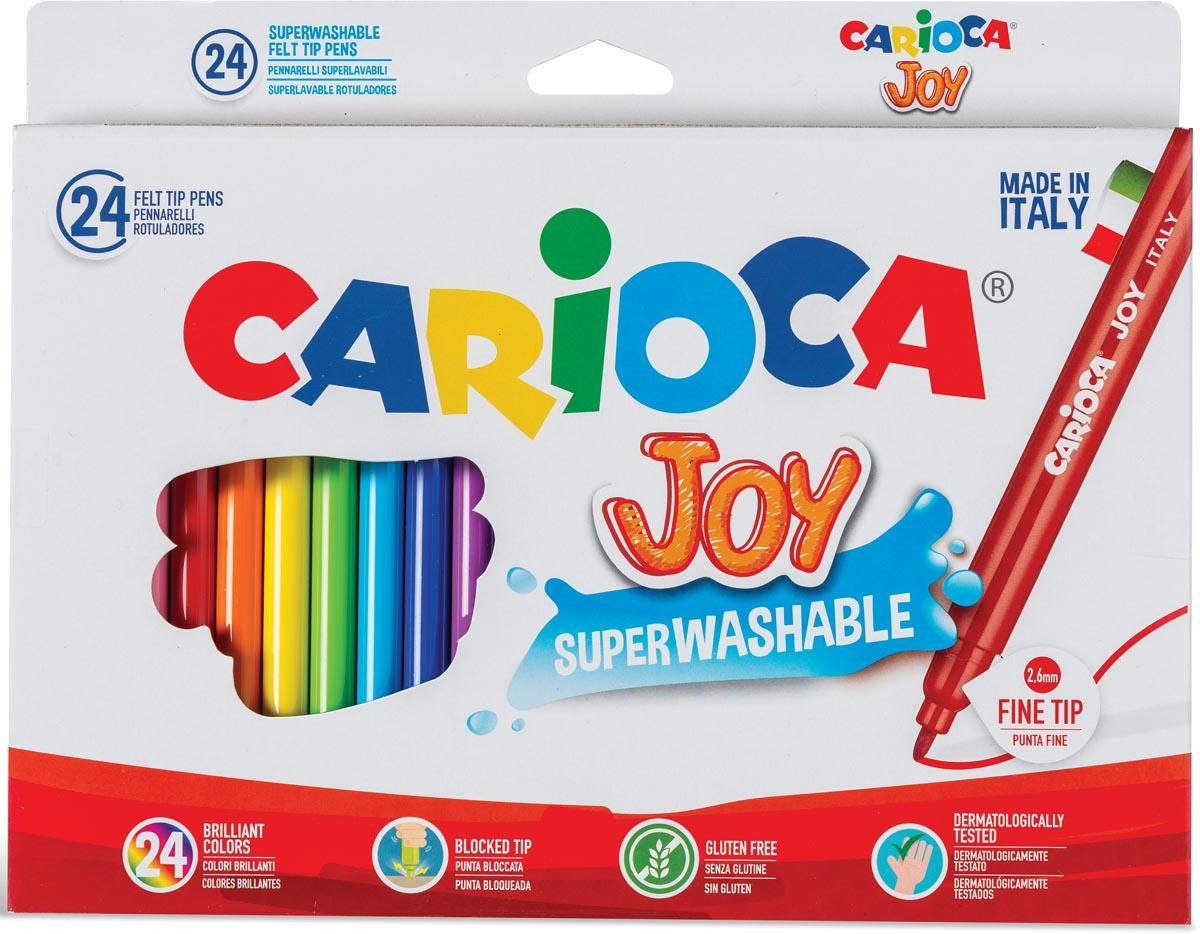 Carioca viltstift Superwashable Joy, 24 stiften in een kartonnen etui