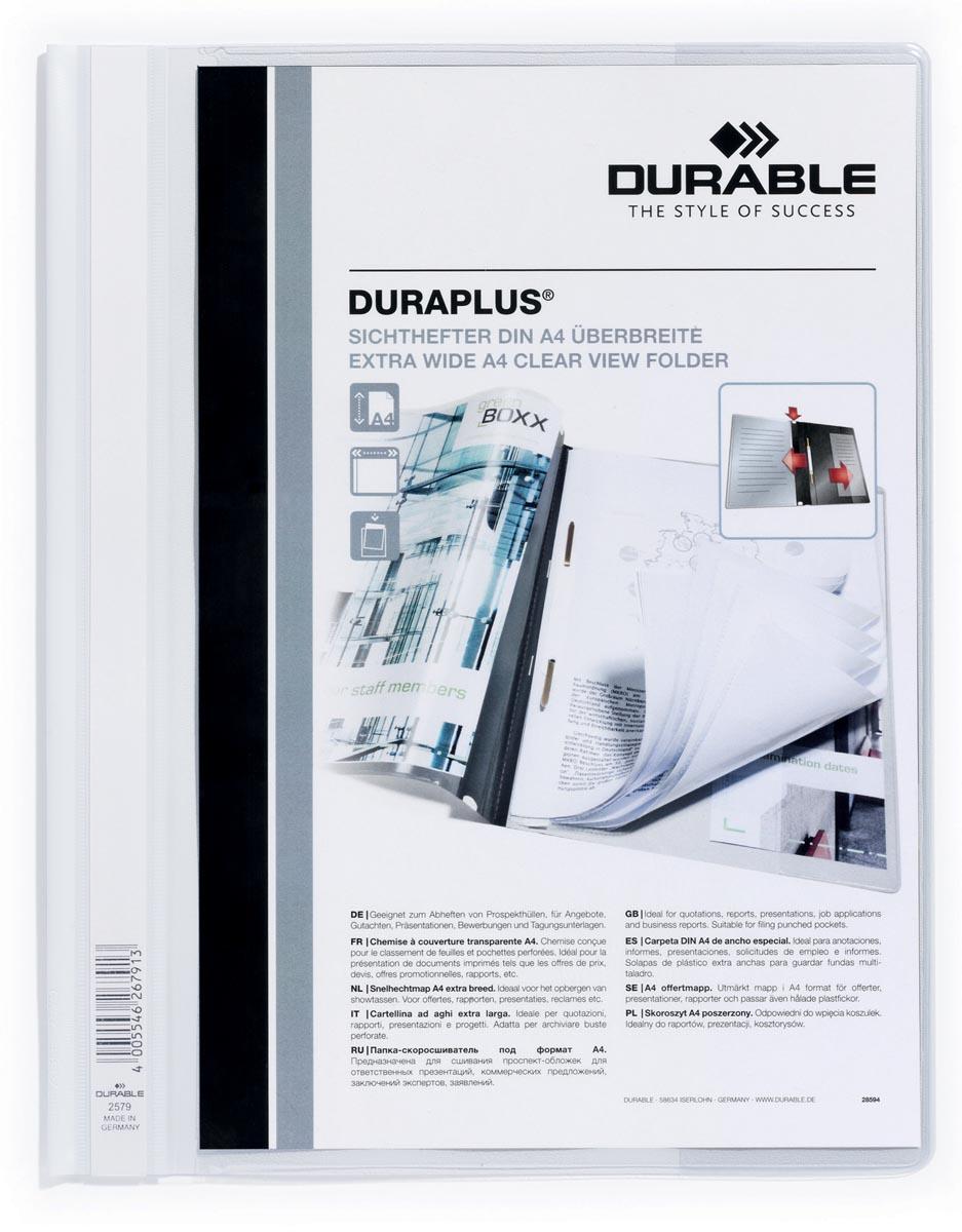 Durable personaliseerbare snelhechtmap Duraplus wit