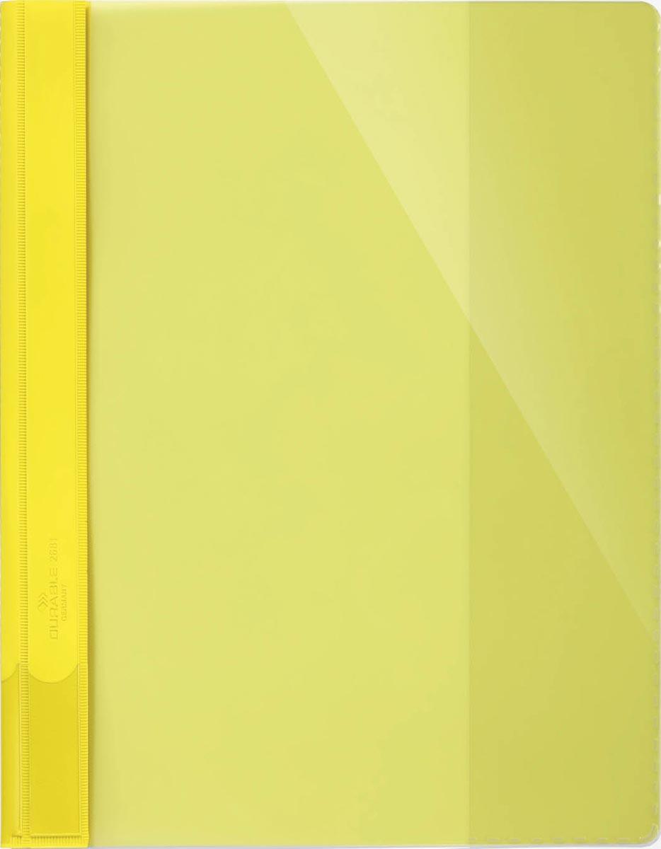 Durable snelhechtmap voor ft A4 extra breed, geel