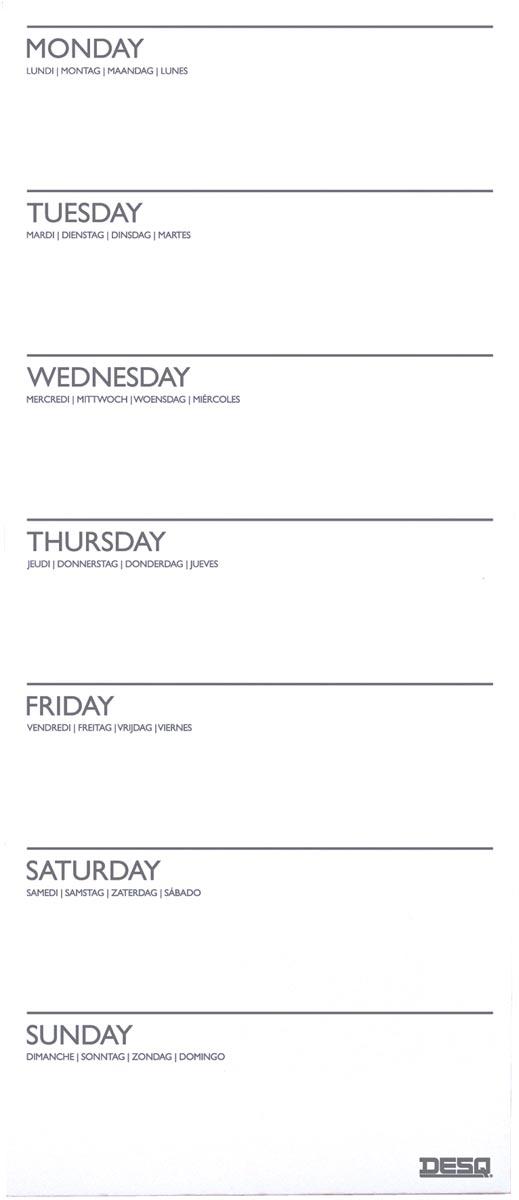 Desq magnetische weekplanner, ft 15 x 35 cm